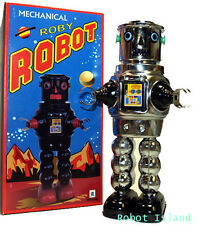 R-35 Tin Toy Robby the Robot version Windup Chrome Masudaya Style