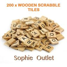 200 x Wooden Scrabble Tiles Letters Crafts Alphabet Scrabbles Board Game Toy
