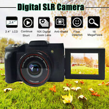 Digital SLR Camera TFT LCD Camcorder 1080P HD 16X Zoom Flip Screen Selfie Video