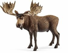 Schleich 14781 Moose Bull Toy Figure, Brown, For Ages 3+