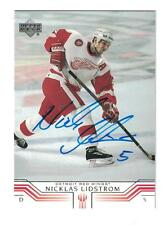 Nicklas Lidstrom AUTOGRAPH UPPER DECK HOCKEY CARD SIGNED DETROIT RED WINGS