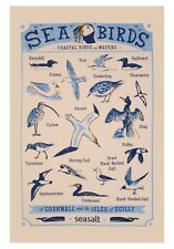 "Ulster Weavers, ""Seasalt Seabirds"", Pure cotton printed tea towel."