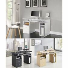 Bureau noir avec étagères pour la maison