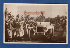 More details for  royal visit bristol h r h prince of wales 1921 motor car rp pc used  z293