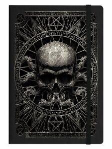 Pagan Skull, Black A5 Hard Cover Notebook, Dark Magic Gothic Witchcraft Spells
