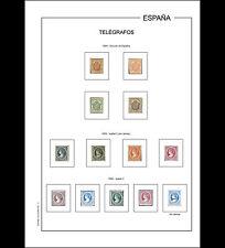 Hojas álbum Telégrafos España 1864-1949 PDF DIGITAL en A4 y en 30x27cm