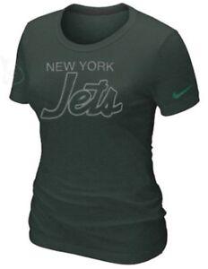 Nike Women's New York Jets Script Tri Blend NFL Football Jersey Shirt XL