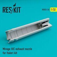 Reskit RSU32-0026 - 1/32 Mirage IIIC exhaust nozzle for Italeri Kit model UK