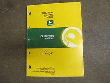 John Deere 7610 7710 7810 tractor owners & maintenance manual
