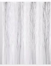 Threshold Diamonds White Pinch Pleats Shower Curtain Nwop