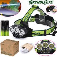 30000LM 5X Cre T6 Led Scheinwerfer USB Aufladbar 18650 Stirnlampe Licht
