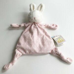 Bunnies By The Bay Bunny Rabbit Polka Dot Security Blanket Lovey Knotted w Tags