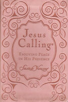 NEW Jesus Calling Deluxe Pink Leatherflex Edition Small Book Sarah Young Peach