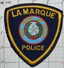 TEXAS, LA MARQUE POLICE DEPT PATCH