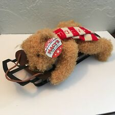 Macy's New York TEDDY BEAR ON SLED Exclusive by Mary Meyer Fully-Jointed NWT