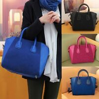 Womens Stylish PU Leather Frosted Handbag Shoulder Bags Tote Purse Bag Practical