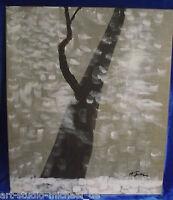 """Michael Feicht (geb. 1959): """"Verschneiter Baum im WInter"""""""