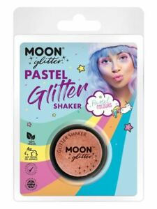 Moon Glitter Pastel Glitter Shakers, Peach., Facepaint/Carnival/Party Makeup
