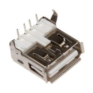 USB Type A femelle Coudé à 90° a Souder SMD SMT Connecteur Assemblage Prise