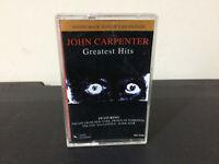 John Carpenter Greatest Hits Movie Cassette Sountrack Tape - Horror Collectible