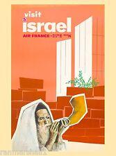Visit Israel Palestine Vintage Travel Advertisement Art Poster