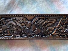 Vintage Nocona Tooled Stamped Western Belt