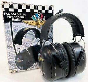 Vintage Indianapolis Indy 500 Hearing Protection AM/FM Radio Headset Headphones