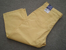 Basic Editions Classic Fit 5 pocket jeans - yellow - NWT - size 14