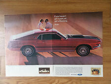 1969 Ford Mustang Mach 1 Ad If you haven't Got a Past Yet Get A Mustang Now