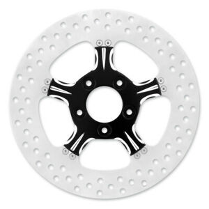 """XM 0133-1522XFRS-BMP Black Xquisite Fierce 11.5"""" Front Brake Rotor '00-14 Harley"""