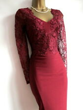 Brand new Lipsy merlot lace bodycon dress size 10