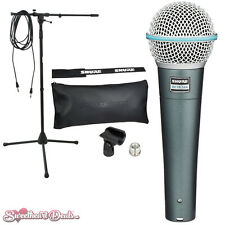 Shure Beta 58A - Super-Cardioid Handheld Dynamic Microphone Beta58 Bundle