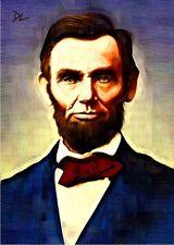 Abraham Lincoln US President Artist Sketch Card *Artist Signed* Rare Serial 5/10