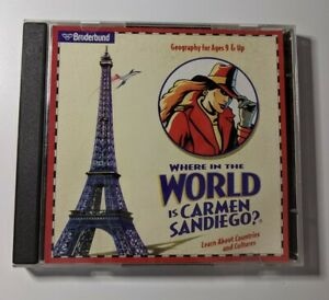 1996 Broderbund Where in the World is Carmen Sandiego? Geography Ages 9 & Up