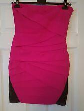 BNWT Gorgeous Pink Strapless Lipsy Dress Size 14 RRP £55