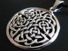 Keltischer Knoten 925'er Silber + Echtlederband Ketten Anhänger  / KA 287
