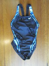 SPEEDO Women's Black Blue Super Pro Back Competition Swimsuit 12 / 38