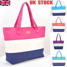 8b8988047d Ladies Stripes Canvas Shoulder Bags Messenger Shopping Beach Handbag Totes  Sale