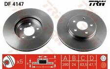 2x TRW Front Brake Discs Vented 300mm for FORD MONDEO JAGUAR X-TYPE DF4147