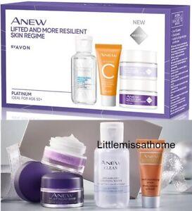 AVON ANEW PLATINUM SKINCARE REGIME MINI KIT trial set face serum cream 50+ age