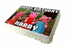 PIGGY A4 Birthday Cake Topper - High Quality Edible Icing