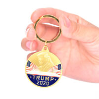New Keychain Trump 2020 Bright Gold plating Memorial Collection Gift Handicr FE