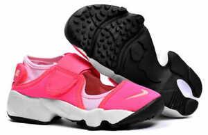 Junior Girls Nike Air Rift (GS) Summer Trainers Pink Black Peach 314149 601
