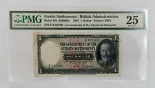 Straits settlements 1935 $1 PMG-25 very fine note.