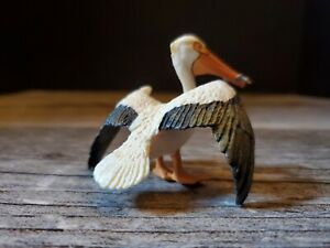 "Wild Safari Pelican with Fish Figure 3"""