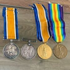 4 X WWI MEDALS CHESHIRE REGT + OTHERS