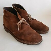 Clarks Original Desert Chukka Leather Suede Boots Brown Crepe Sole Men's Size 8