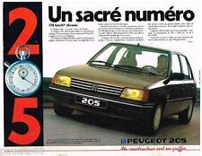 PUBLICITE ADVERTISING 105  1983  PEUGEOT 205 UN SACRE NUMERO