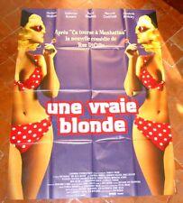 UNE VRAIE BLONDE -  AFFICHE CINEMA 120x160cm - Matthew MODINE / Daryl HANNAH