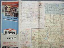 1965 IOWA AND ADJOINING STATES  MOBIL MIRACLE MAP FORMAT